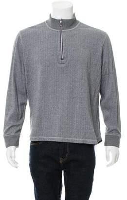 Robert Graham Printed Half-Zip Sweater