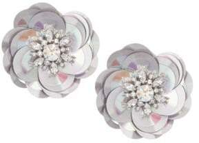 Kate Spade Crystal Floral Stud Earrings