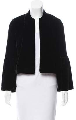 Ulla Johnson Velvet Open-Front Jacket