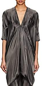 Rick Owens Women's Tech-Satin V-Neck Tunic - Dark Dusk