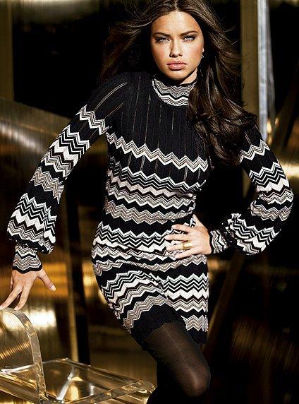 Zig-zag sweaterdress