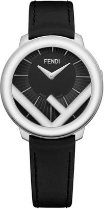 Fendi Run Away Leather Strap Watch, 28mm