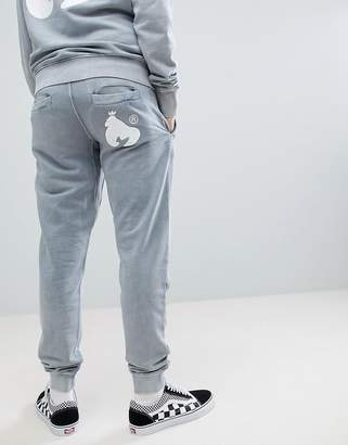 Money joggers in grey with logo