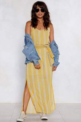Nasty Gal On the Right Lines Striped Dress