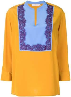 Tory Burch lace panel blouse