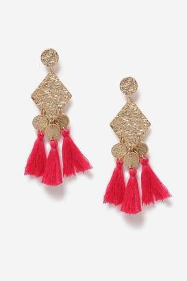 Topshop Diamond Shape Drop Earrings