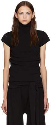 Issey Miyake Black Baguette Short Sleeve Turtleneck