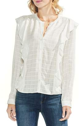 Vince Camuto Ruffle Trim Top