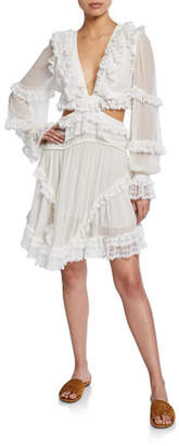 Zimmermann Suraya Cutout Ruffle Mini Dress