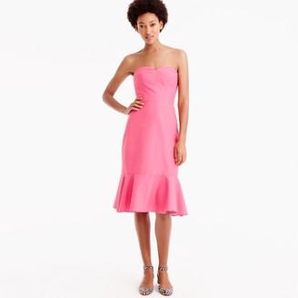 Petite strapless ruffle-hem dress in faille $168 thestylecure.com