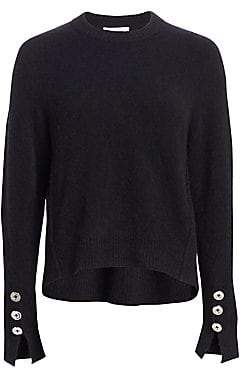 3.1 Phillip Lim Women's Button Sleeve Wool Sweater