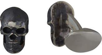 Deakin And Francis Sterling silver skull cufflinks