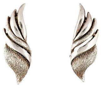 Oscar de la Renta Fanned Out Clip-On Earrings