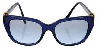 Tory Burch Tinted Logo Sunglasses