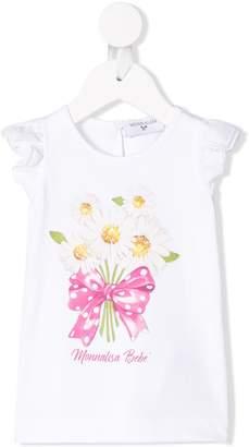 MonnaLisa bouquet cap sleeve top