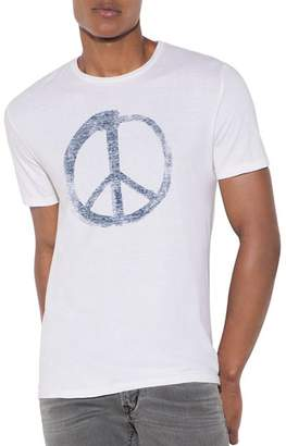 John Varvatos Peace Symbol Graphic Tee