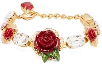 Dolce & Gabbana Rose and crystal bracelet