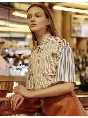 Sandro Striped Short-Sleeved Shirt