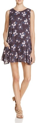 En Créme Floral Print Lace-Up Dress - 100% Exclusive $58 thestylecure.com
