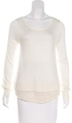 Ella Moss Embroidered Knit Sweater