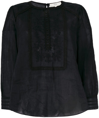 Vanessa Bruno Athé embroidered flared blouse