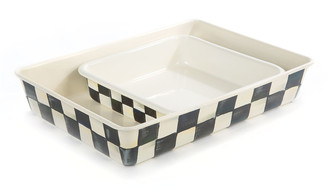 Mackenzie Childs Courtly Check Baking Pan, Rectangular