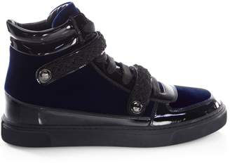 Louis Leeman Braid Buckle Leather High-Top Sneakers