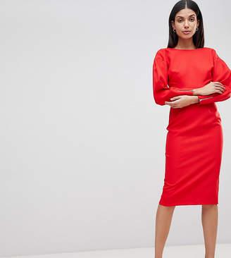 Asos Tall TALL Long Sleeve Midi Pencil Dress