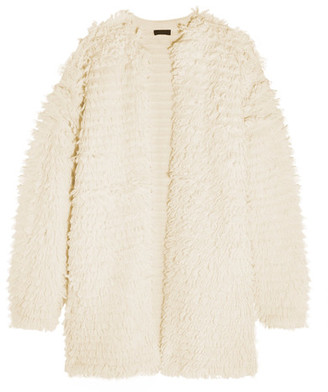J.Crew - Bouclé-knit Coat - Cream $355 thestylecure.com