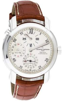 Vacheron Constantin Dual Time Regulator Watch $19,500 thestylecure.com