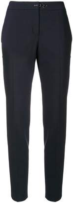 Fay toggle fastening cigarette trousers