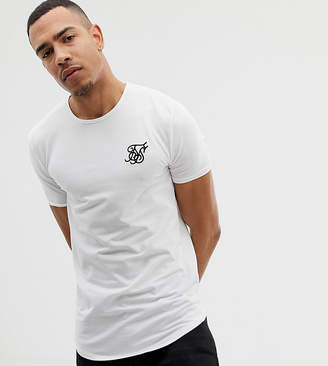 SikSilk short sleeve t-shirt in white exclusive to ASOS