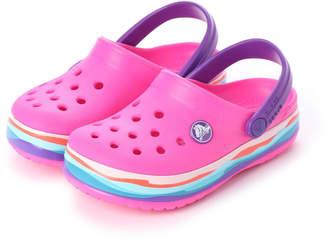Crocs (クロックス) - クロックス crocs クロッグサンダル crocband? wavy band clog kids 205697-6L0