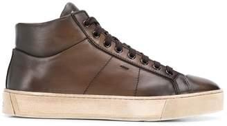 Santoni lace-up flat sneakers