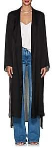 Juan Carlos Obando Women's Washed Satin Long Robe-Black