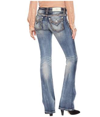 Miss Me Women's Mid-Rise Embroidered Boot Cut Jeans