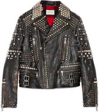 Studded leather biker jacket $18,650 thestylecure.com