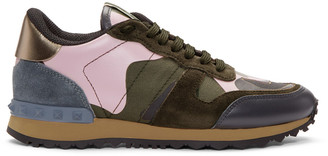 Valentino Multicolour Rockstud Camouflage Sneakers $795 thestylecure.com
