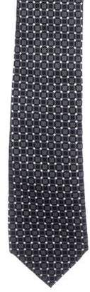 Prada Geometric Jacquard Silk Tie