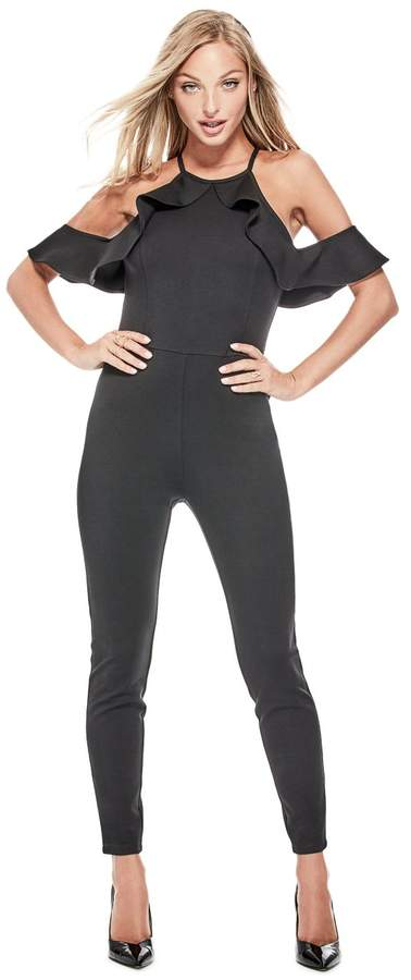 GUESS Women's Illissa Ruffled Jumpsuit