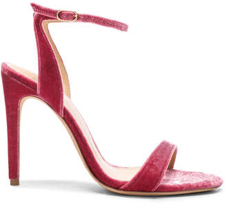 Alexandre Birman Velvet Willow Ankle Strap Sandals