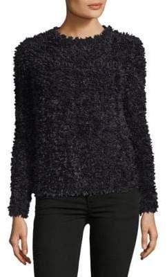 Max Mara Bleu Textured Crewneck Sweater