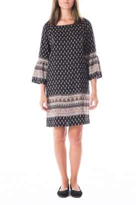 Gilli Black Patterned Shift Dress