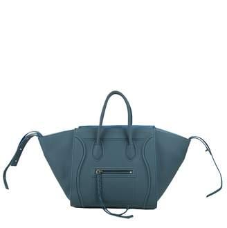 6f7d17b6226f Celine Luggage Phantom Turquoise Leather Handbag