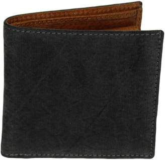 40 Colori Black Solid Washed Silk & Leather Wallet