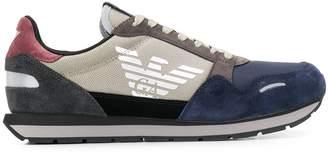 Emporio Armani logo colour-block sneakers