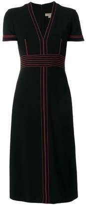 Burberry contrasting stitch detail dress