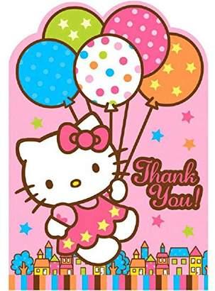 Hello Kitty Amscan 162519 Balloon Dreams Thank-You Notes