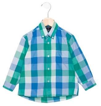 Oscar de la Renta Boys' Checked Button-Up Shirt