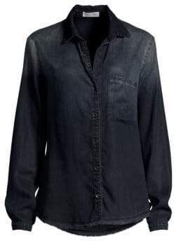 Bella Dahl Frayed Denim Shirt